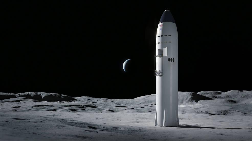 Starship Human Landing System rendering