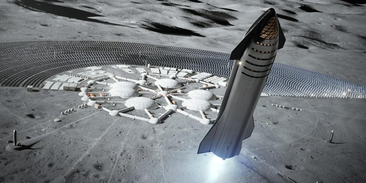 Starship moon rendering