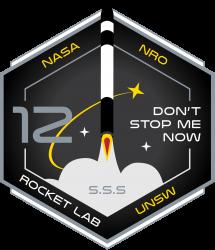 Rocket Lab Don't Stop Me Now mission patch
