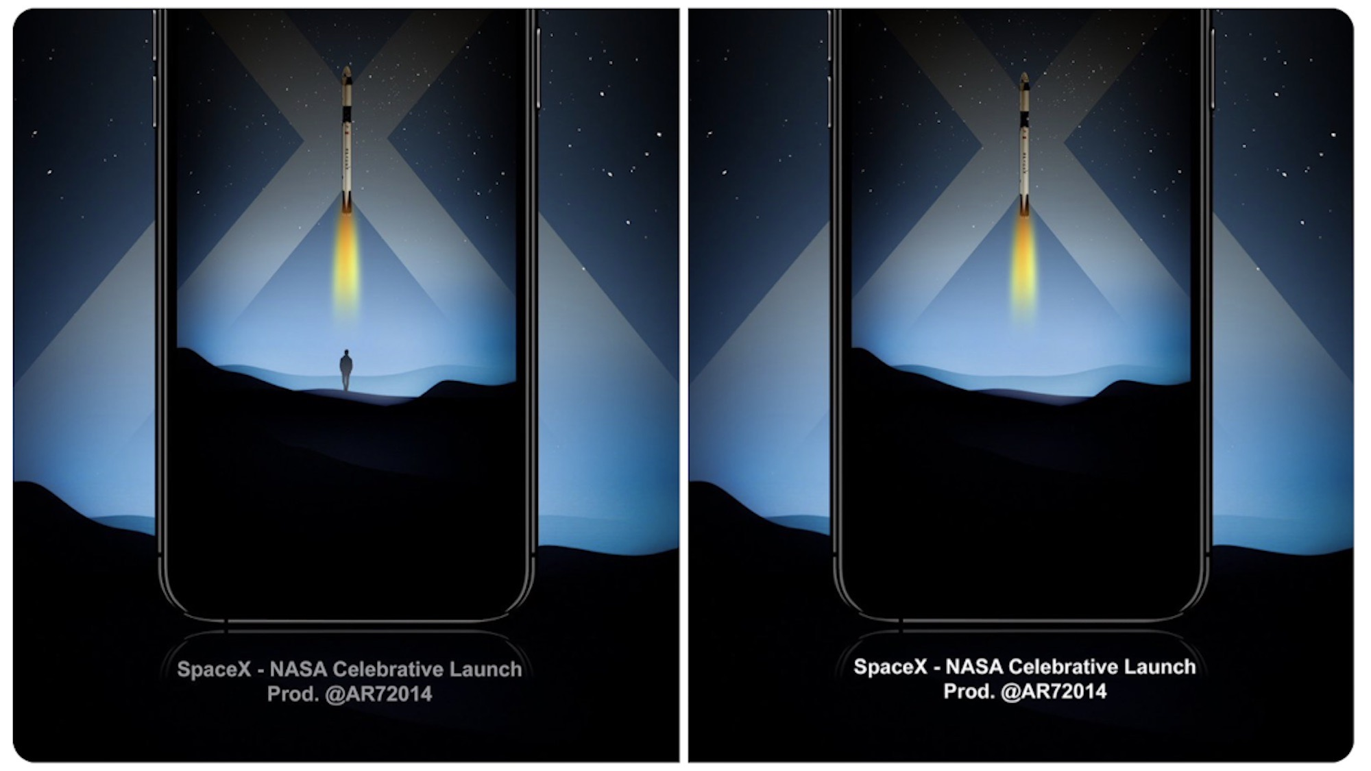 iPhone wallpapers from designer 'AR7' celebrate historic SpaceX NASA astronaut launch - Space Explored