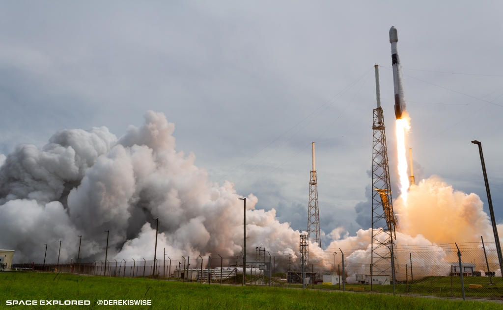 SpaceX Transporter 2 mission lifts off carrying Swarm SpaceBEE satellites