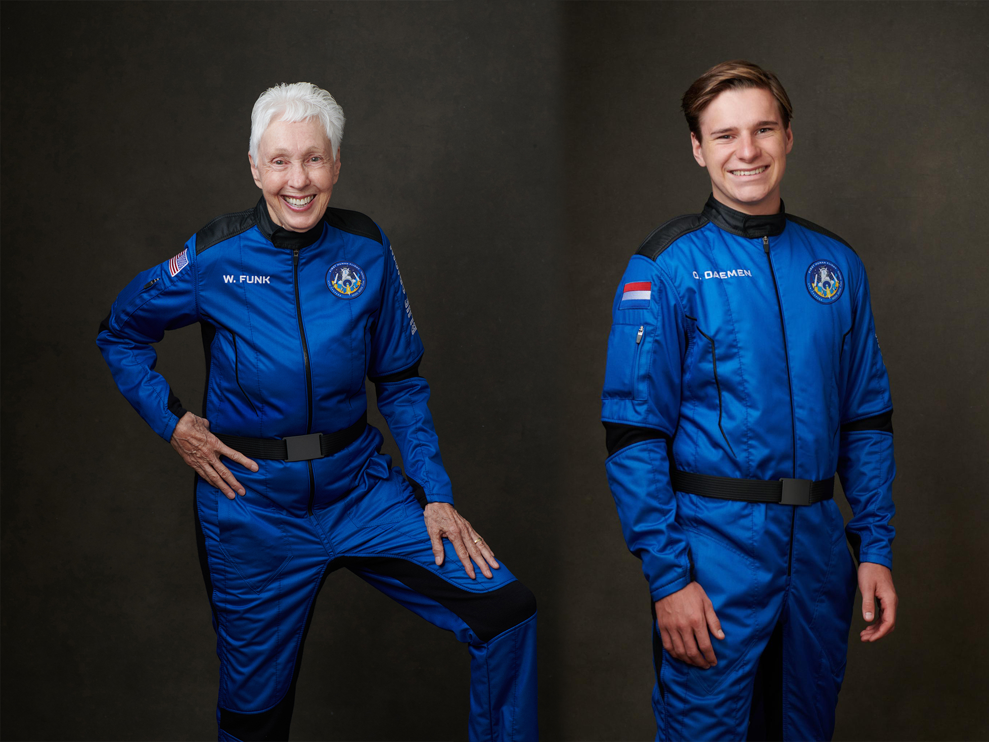 Blue Origin flies the Oldest person (Wally Funk) and the Youngest person (Oliver Daemen) to space.
