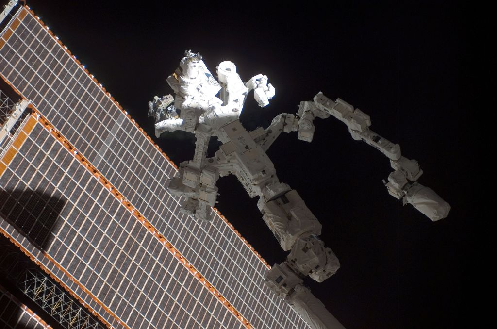 Dextre robot in space on the International Space Station