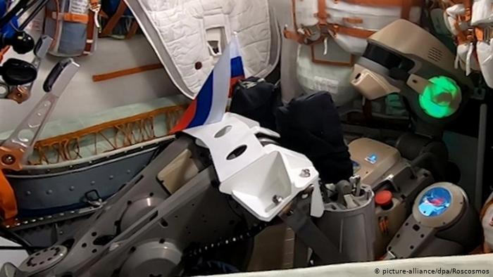 FEDOR robot in Soyuz spacecraft.