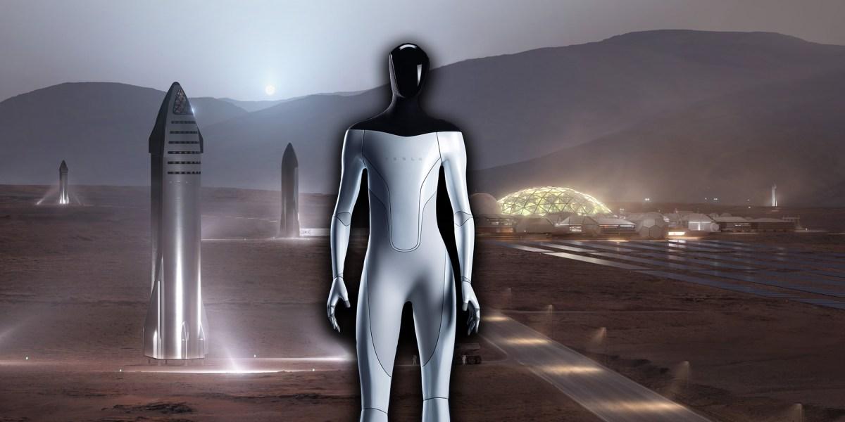 Tesla Robot on Mars