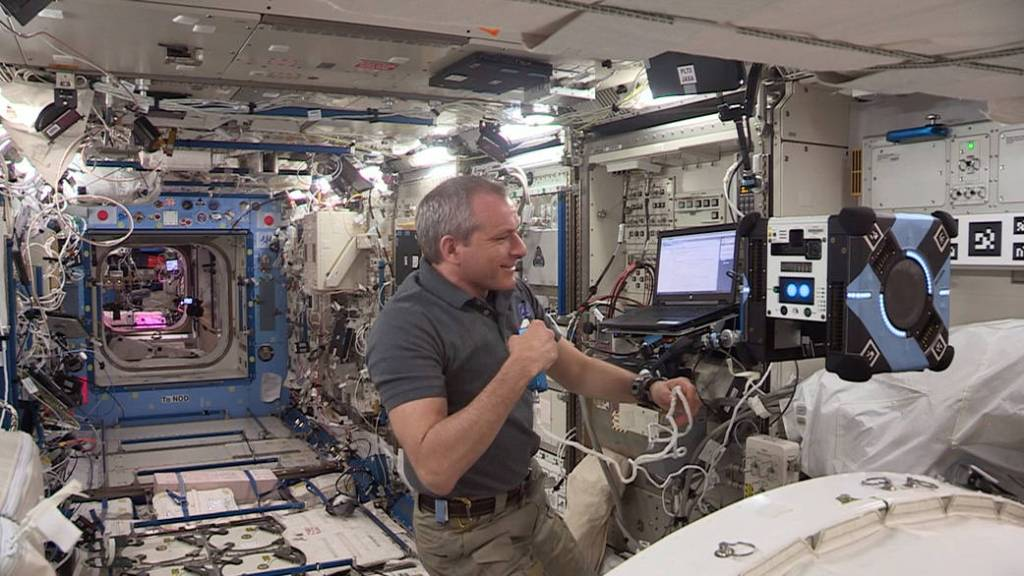 Astrobee robot on the ISS.