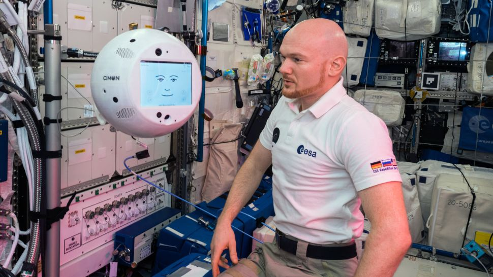 CIMON robot on the International Space Station.
