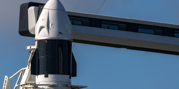 SpaceX Dragon Capsule getting Starlink connectivity.