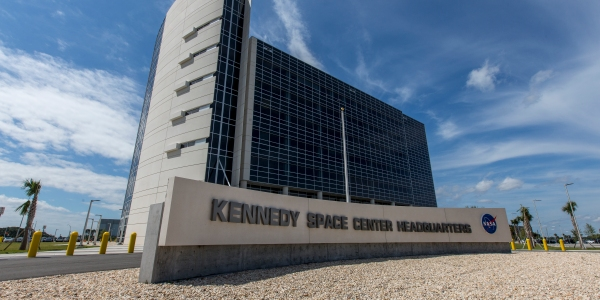 Kennedy Space Center headquarters building.
