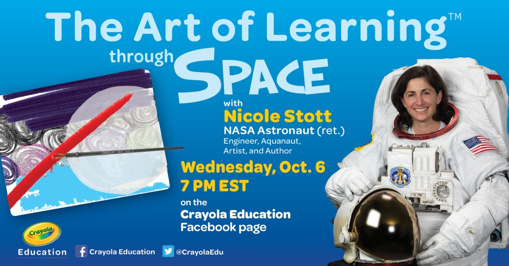Crayola art of learning through space space week