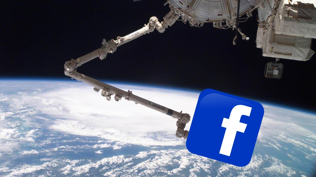 Facebook outage Canadarm space