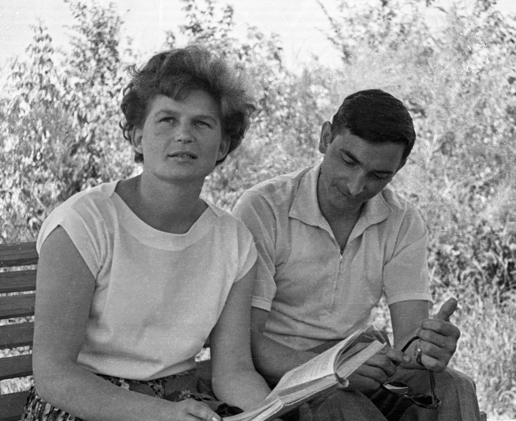 The first woman to fly in space, Valentina Tereshkova, a few weeks before her flight.